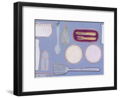 Blue Kitchen-Tiffany Lynch-Framed Art Print