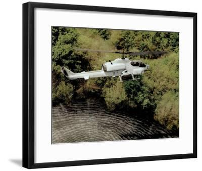 AH-1W Super Cobra (Over Water) Art Poster Print--Framed Mini Poster