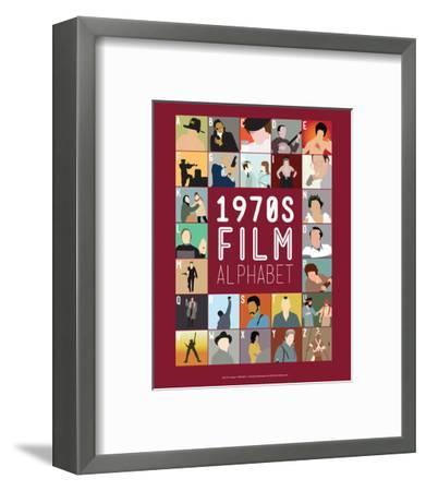 1970s Film Alphabet - A to Z-Stephen Wildish-Framed Giclee Print