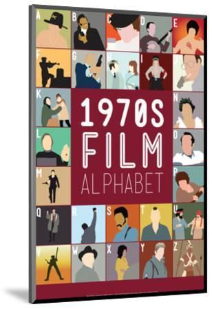 1970s Film Alphabet - A to Z-Stephen Wildish-Mounted Giclee Print