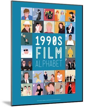 1990s Film Alphabet - A to Z-Stephen Wildish-Mounted Art Print