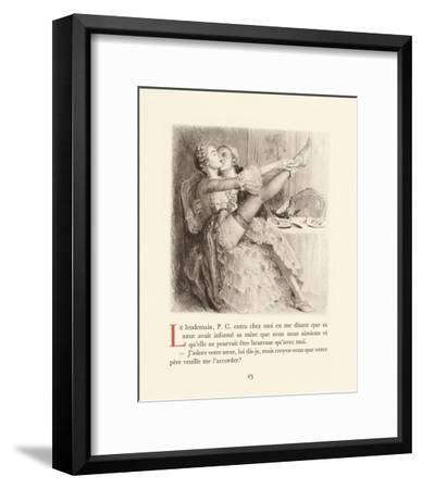 A Pretty Stocking-Gabriel Ferrier-Framed Premium Giclee Print