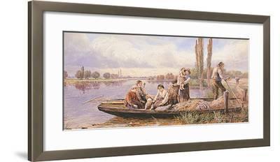 Crossing the Ferry-Myles Birkett Foster-Framed Premium Giclee Print