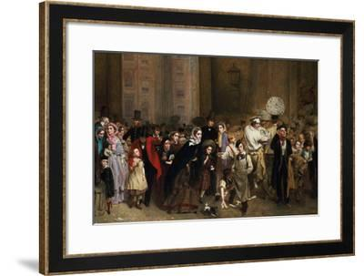 The General Post Office, One Minute to Six: 1860-George Elgar Hicks-Framed Premium Giclee Print