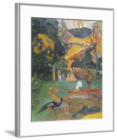 Landscape with Peacocks-Paul Gauguin-Framed Premium Giclee Print