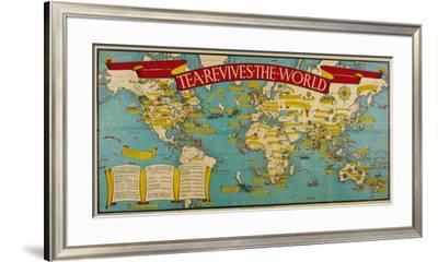 Tea Revives the World-Macdonald Gill-Framed Premium Giclee Print