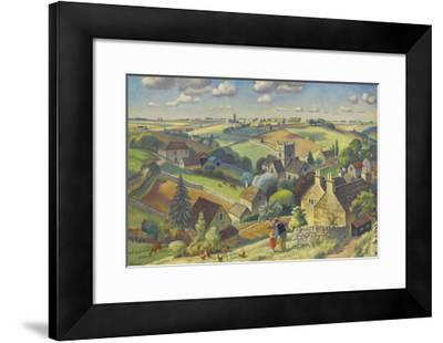 Cotswold Pattern-Adrian Allinson-Framed Premium Giclee Print