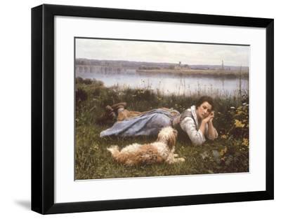 Reverie, 1866-Daniel Ridgeway Knight-Framed Premium Giclee Print