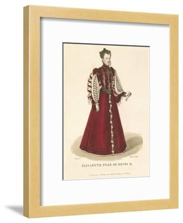Elisabeth, Daughter of Henri II-Louis-Marie Lante-Framed Premium Giclee Print