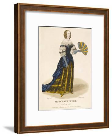 Mlle d' Hautefort-Louis-Marie Lante-Framed Premium Giclee Print