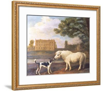 Pony and Hound In Front of Brocklesby Park-George Stubbs-Framed Premium Giclee Print