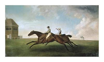 Racing at Newmarket-George Stubbs-Framed Premium Giclee Print