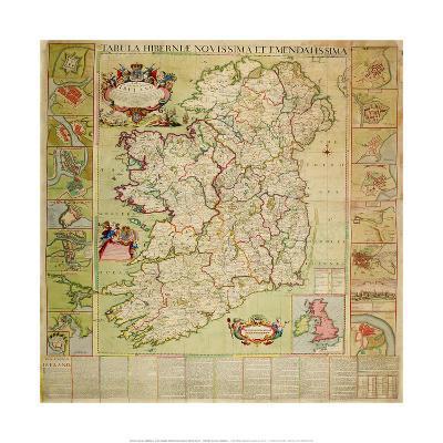 Tabula Hiberniae Novissima Et Emendatissima-Henry Pratt-Premium Giclee Print