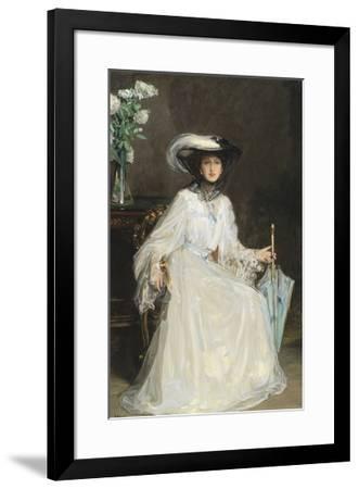 Lady Evelyn Farquhar-Sir John Lavery-Framed Premium Giclee Print