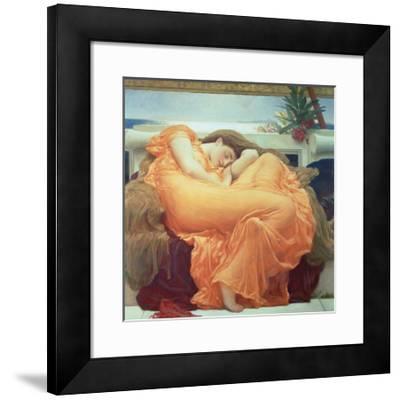 Flaming June-Frederick Leighton-Framed Premium Giclee Print