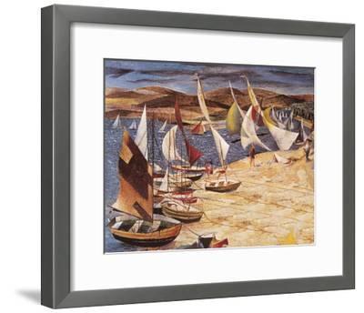 Hayling Island (Regatta 1951)-John R Barker-Framed Premium Giclee Print