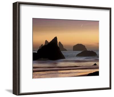 Moonset-Mike Jones-Framed Art Print