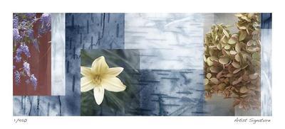 Blue Mosaic II-Michelle Joyce-Framed Giclee Print