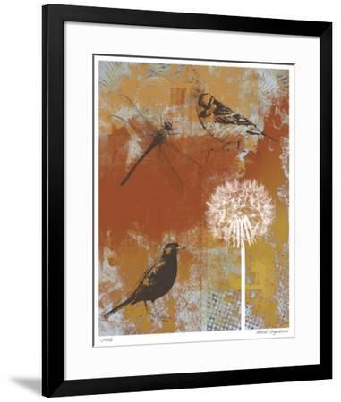 Les Ouiseaux II-Mj Lew-Framed Giclee Print