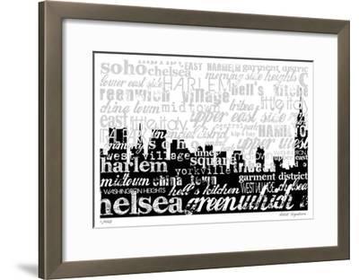 NYC Neighborhood-Mj Lew-Framed Giclee Print