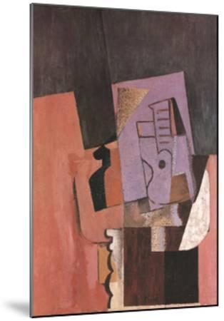 La Guitare-Pablo Picasso-Mounted Art Print