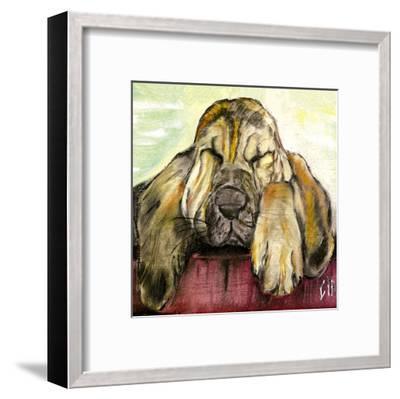 Chien Beige-Clauva-Framed Art Print