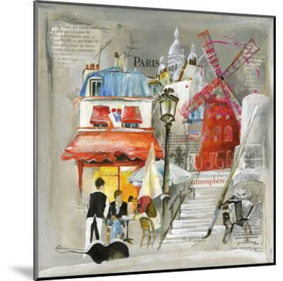 Paris Moulin Rouge-Lizie-Mounted Art Print