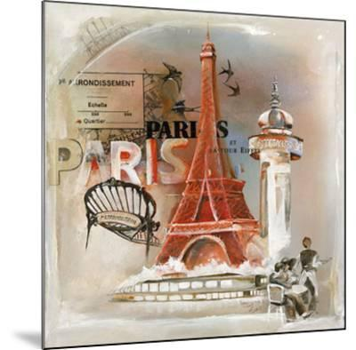 Paris Tour Eiffel-Lizie-Mounted Art Print