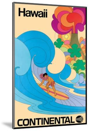 Continental Hawaii Surfer c.1960's--Mounted Giclee Print