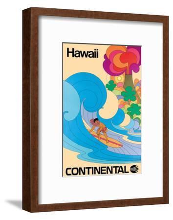 Continental Hawaii Surfer c.1960's--Framed Giclee Print