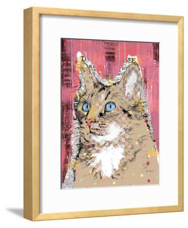 Poppet Cat IV-Ken Hurd-Framed Art Print
