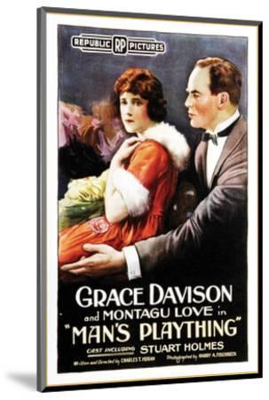 Man's Plaything - 1920--Mounted Giclee Print