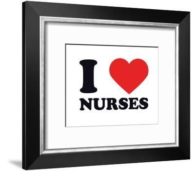 I Heart Nurses--Framed Giclee Print