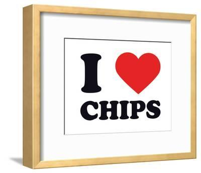 I Heart Chips--Framed Giclee Print