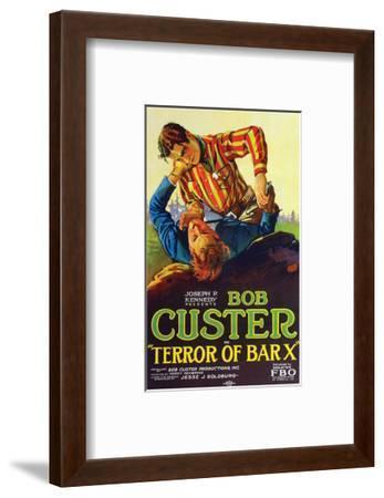 Terror Of Bar X - 1927--Framed Giclee Print