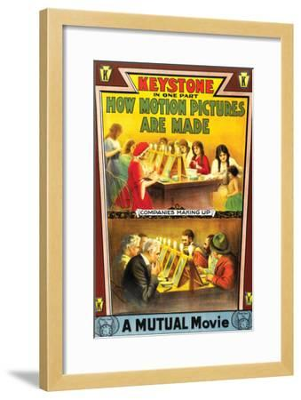 How Motion Pictures Are Made - 1914--Framed Giclee Print
