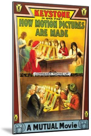 How Motion Pictures Are Made - 1914--Mounted Giclee Print