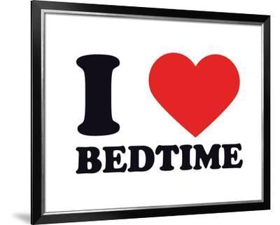 I Heart Bedtime--Framed Giclee Print