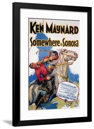 Somewhere In Sonora--Framed Giclee Print