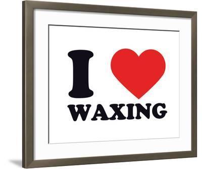 I Heart Waxing--Framed Giclee Print
