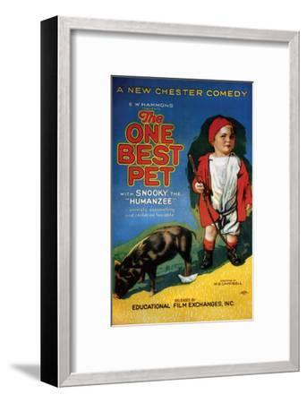 The One Best Pet - 1920--Framed Giclee Print
