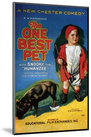 The One Best Pet - 1920--Mounted Giclee Print