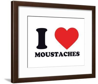 I Heart Moustaches--Framed Giclee Print