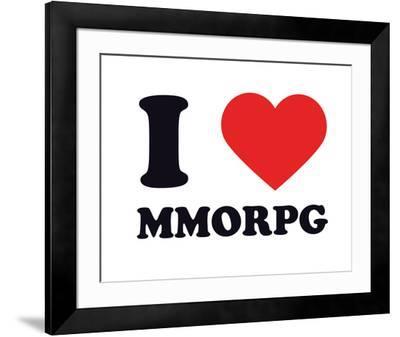 I Heart MMORPG--Framed Giclee Print