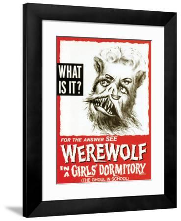 Werewolf In A Girls' Dormitory - 1961--Framed Giclee Print