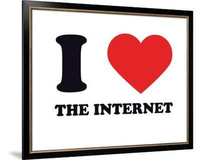 I Heart the Internet--Framed Giclee Print