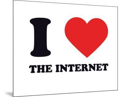 I Heart the Internet--Mounted Giclee Print