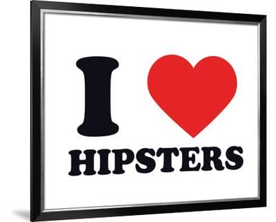 I Heart Hipsters--Framed Giclee Print