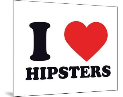 I Heart Hipsters--Mounted Giclee Print