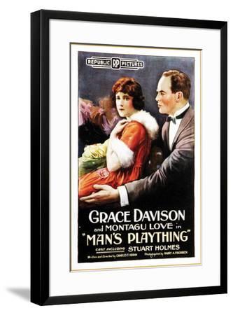 Man's Plaything - 1920--Framed Giclee Print
